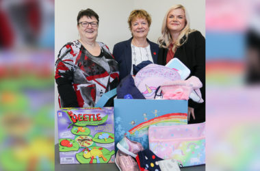 Margaret Smith, Brenda Munro and Michelle Munro are keeping charity in the family. Photo: Paula Hulburt.