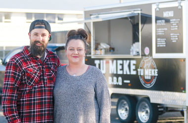 Tu Meke BBQ owners Andrew and Melissa Poswillo are leaving town after an unsuccessful search for a home in Marlborough. Photo: Matt Brown.