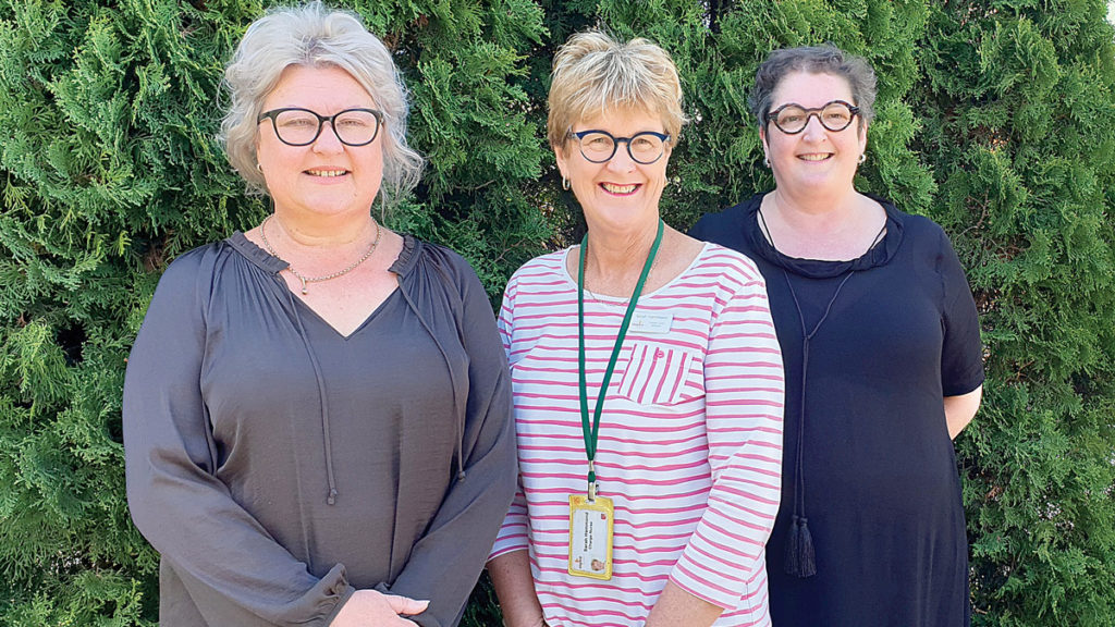 Chateau Marlborough manager Lynley, McKinnon, Marlborough Hospice nurse manager Sarah Hammond and Quench restaurant chef Maree Connolly. Photo: Supplied.