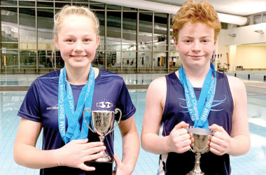 Eliza Glover and Finn McNabb were regional champions in the 11-12 age group. Photo: Supplied.