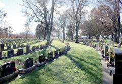 Fairhall Cemetery is one of several which will see the cost of burial plots double over the next five years. Photo: Chloe Ranford/LDR.