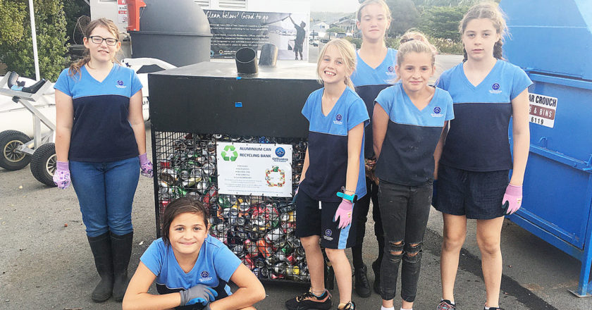 Picton Girl Guides help recycle thousands of cans every year. Photo: Supplied.