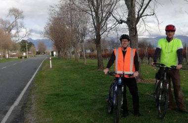 Braden Prideaux and John Kershaw are looking forward to the new cycleway. Photo: Supplied.