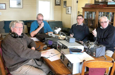 Members of the Marlborough Amateur Radio Club, Bill Cousins Stuart Watchman, Graeme McKay and Ian Conway. Photo: Supplied.