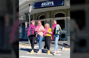 Amy Cragg, Marianne Govaerts, Anne Goodyear, and Emily Gidlow are supporting Breast Cancer Foundation New Zealand. Photo: Supplied.