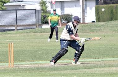 Wairau batsman Andrew McCaa registered the highest score on the opening day of the senior cricket competition. Photo: Peter Jones.