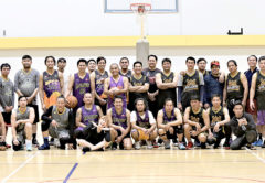 Several of the Filipino players who will be in action next weekend gathered at Stadium 2000 on Sunday to sharpen their basketball skills. Photo: Peter Jones.