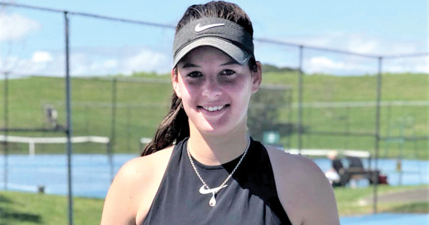 It was a highly-successful weekend in Auckland for Marlborough tennis player Jade Otway. Photo: Supplied.