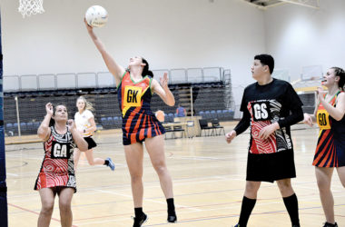 Harlequins defender Katie Cunningham plucks the ball out of the air during her side's match with Tokomaru on Tuesday. Photo: Peter Jones.
