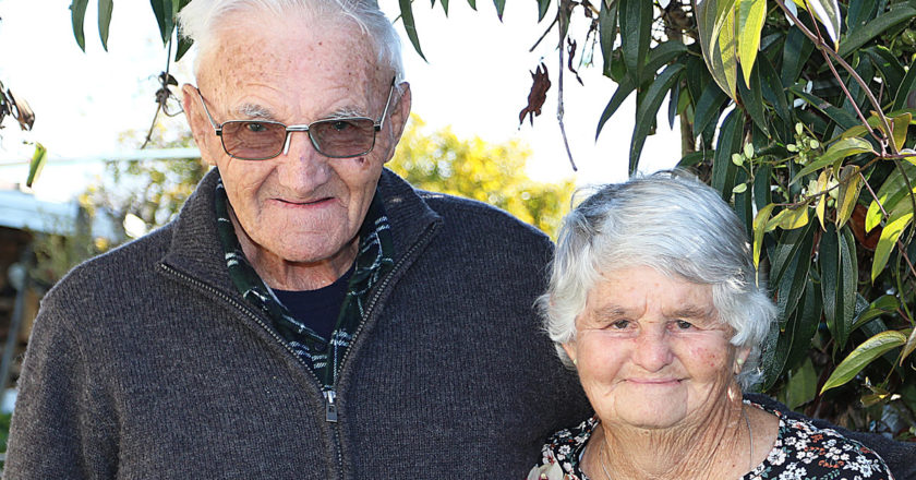 John and Florrie Donnelly celebrated 60 years of marriage. Photo: Paula Hulburt.