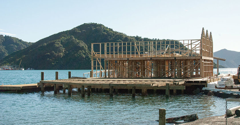 The new Queen Charlotte Yacht Club building is already being booked. Photo: Matt Brown.