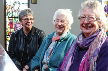 St Andrews Church parishioners, from left Marion Rowe, Kay Ayson and Raewyn Buchanan. Photo: Paula Hulburt.