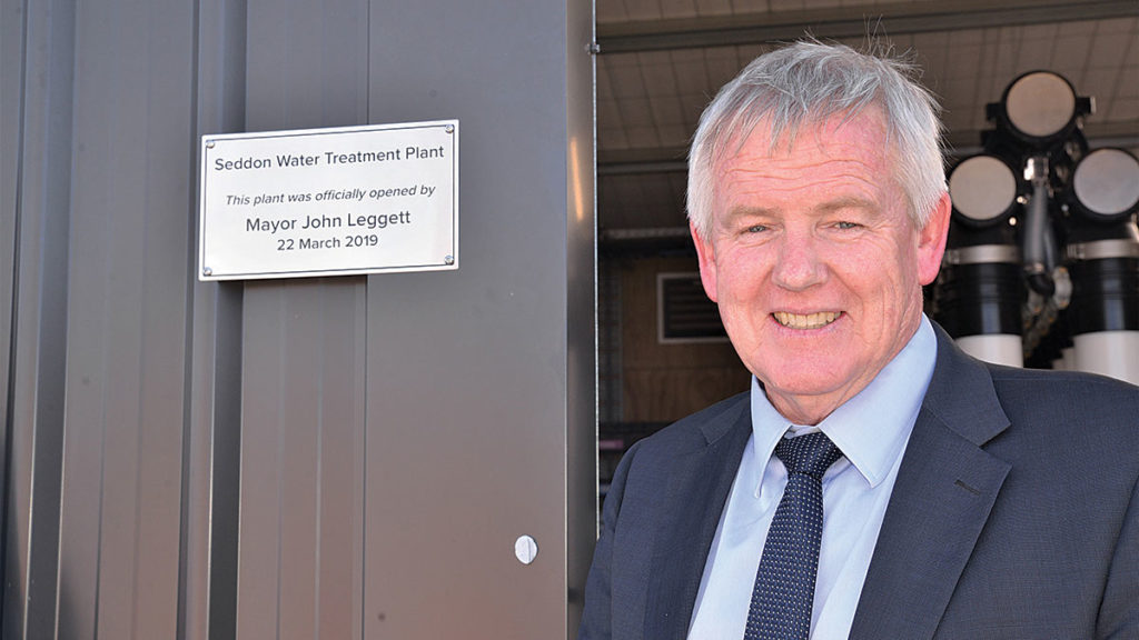 Marlborough Mayor John Leggett opened the Seddon water treatment plant in March. Photo: Paula Hulburt.