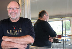 Steve Badham has big plans for his new restaurant and café. Photo: Paula Hulburt.