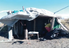 Bottles, human excrement and other detritus mar a popular hut at Marfells Beach. Photo: Supplied.
