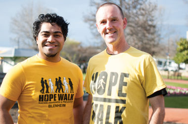 Hope Walk organisers Vita Vaka and Bary Neal. Photo: Matt Brown.