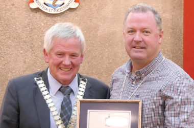 Marlborough Mayor John Leggett with retiring deputy mayor Terry Sloan. Photo: Supplied.