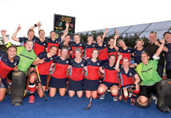 The Tasman Tigers celebrate the region's first national title. Photo: Supplied.