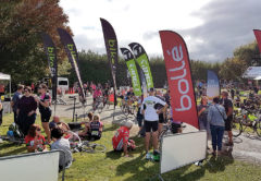 The Graperide's finish line at Forrest Wines. Photo: Matt Brown.