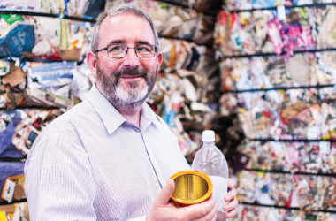Project coordinator Alec McNeil is overseeing a nationwide initiative which could see people paid to recycle. Photo: Matt Brown.