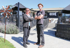 Renwick Roadhouse Café and Bar owners Kristine and David Hudson say losing carparks on the main road through Renwick could sink their business. Photo: Matt Brown.