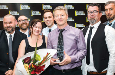 The team from BlueBerryIT, the Marlborough Chamber of Commerce 2019 Business Excellence Awards supreme winners. Photo: Supplied.