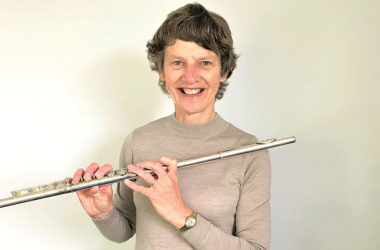 Marlborough gynaecologist and obstetrician Helen Crampton has been able to get back into old passions, like playing the flute, since retiring. Photo: Kat Duggan.