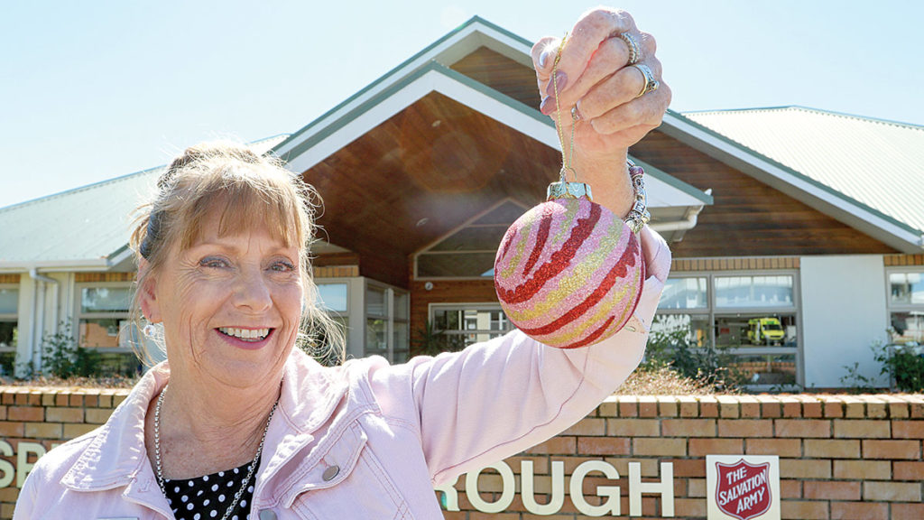 Hospice Marlborough's volunteer coordinator Moerea Mustard is helping spread festive cheer for a good cause in partnership with Farmers. Photo: Paula Hulburt.