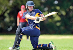 Matthew Stretch scored a blazing century for the Falcons in Nelson on Saturday. Photo: Shuttersport.