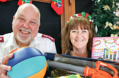 Salvation Army major Deane Goldsack and social worker Bridget Nolan hope Marlburians will help them spread Christmas cheer by donating gifts for children. Photo: Matt Brown.