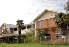 The 93-year-old former nurses' home at Wairau Hospital is being demolished. Photo: Paula Hulburt.