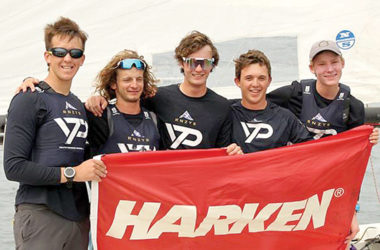 Alastair Gifford, left, with the victorious Kiwi crew. Photo: RPAYC.