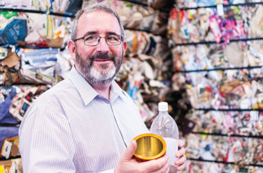 Marlborough District Council solid waste manager Alex McNeil at Blenheim's recycling centre. Photo: Matt Brown.