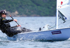 Laser sailor Jack Bennett from the host club. Photo: Supplied.
