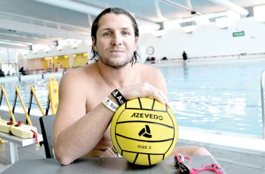 Tony Azevedo, a five-time Olympian, and captain of the silver medal-winning USA team, shared his knowledge with some of the country's rising water polo talent. Photo: Peter Jones.