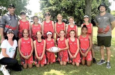 The under-12 girls, who completed an unbeaten season. Photo: Supplied.