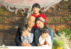 The Liu family on holiday in China are in self-imposed quarantine after returning home. Photo: Supplied.