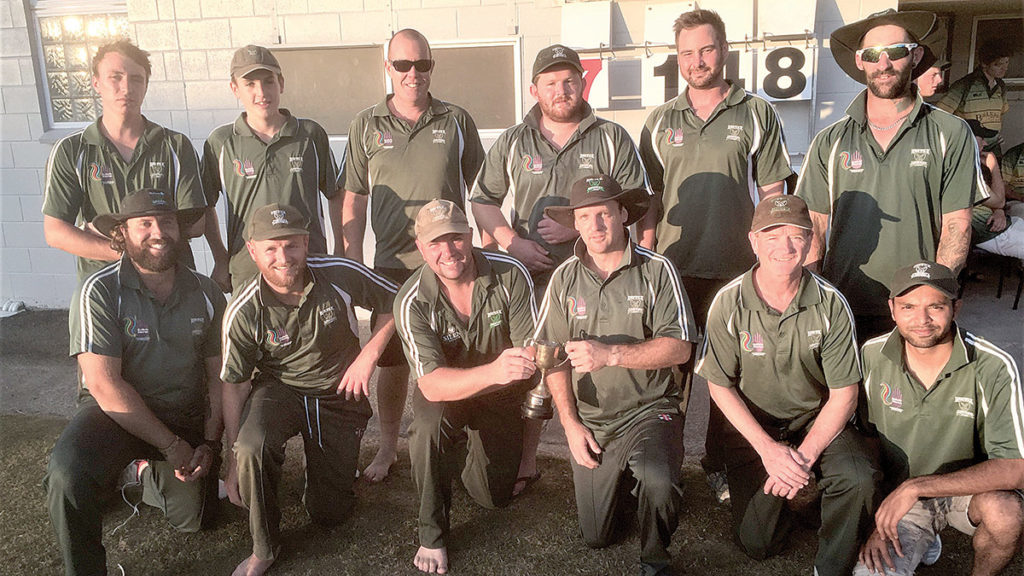 The victorious Renwick side. Back, from left, Jacob Zillwood, Griffin Carter, Andrew Marshall, Rikki Bovey, Michael Anstis, Max Brydon. Front, Sam Clothier-Solly, Hayden Gaudin, Mark Zillwood, Kirk Nicholas (c), Ed Gilhooly and Ritz Suthar. Photo: Supplied.
