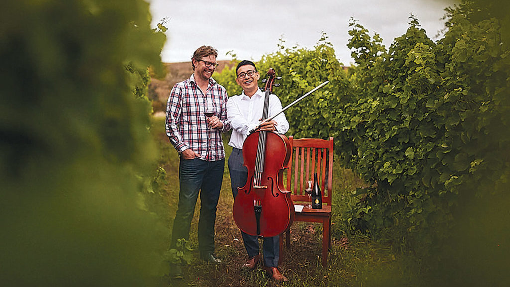 Elgee Leung and Simon Clark are mixing music with wine at a special concert. Photo: Jessica Jones.
