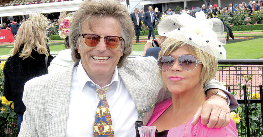 David Bendell with wife Vicki at the Melbourne Cup in 2017. Photo: Supplied.
