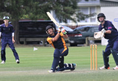 MBC batsman Joel Lavender on his way to a superb unbeaten 98 on Tuesday. Photo: Peter Jones.