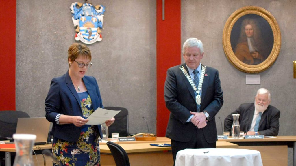 Deputy mayor Nadine Taylor, left, will lead the new council team. Photo: Matt Brown.