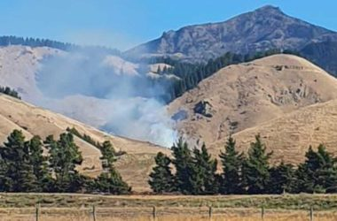 A fire has broken out up the Taylor Pass. Photo: Supplied