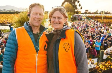 Saint Clair Vineyard Half Marathon organsiers Chris Shaw and Anna Polson have cancelled next year's event. Photo: Supplied.