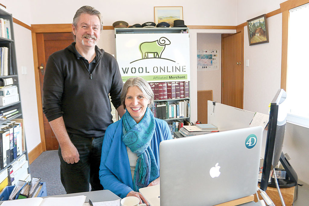 Allan and Janet Udy are changing the way wool is bought and sold. Photo: Matt Brown.