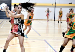 Tokomaru mid courter Kayla Wilson claims possession on Tuesday. Photo: Peter Jones.