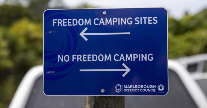 Marlborough District Council is proposing a controversial freedom camping site in Koromiko close under a new bylaw. Photo: Supplied/Marlborough Express.