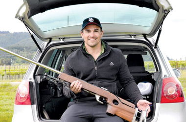 Andre du Toit won the A grade title at the Kaituna range over Labour weekend. Photo: Peter Jones.
