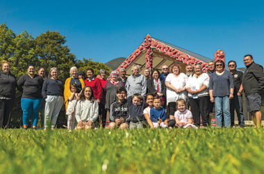 Whānau at Waikawa Marae are helping find solutions to stop violence. Photo: Keelan Walker.